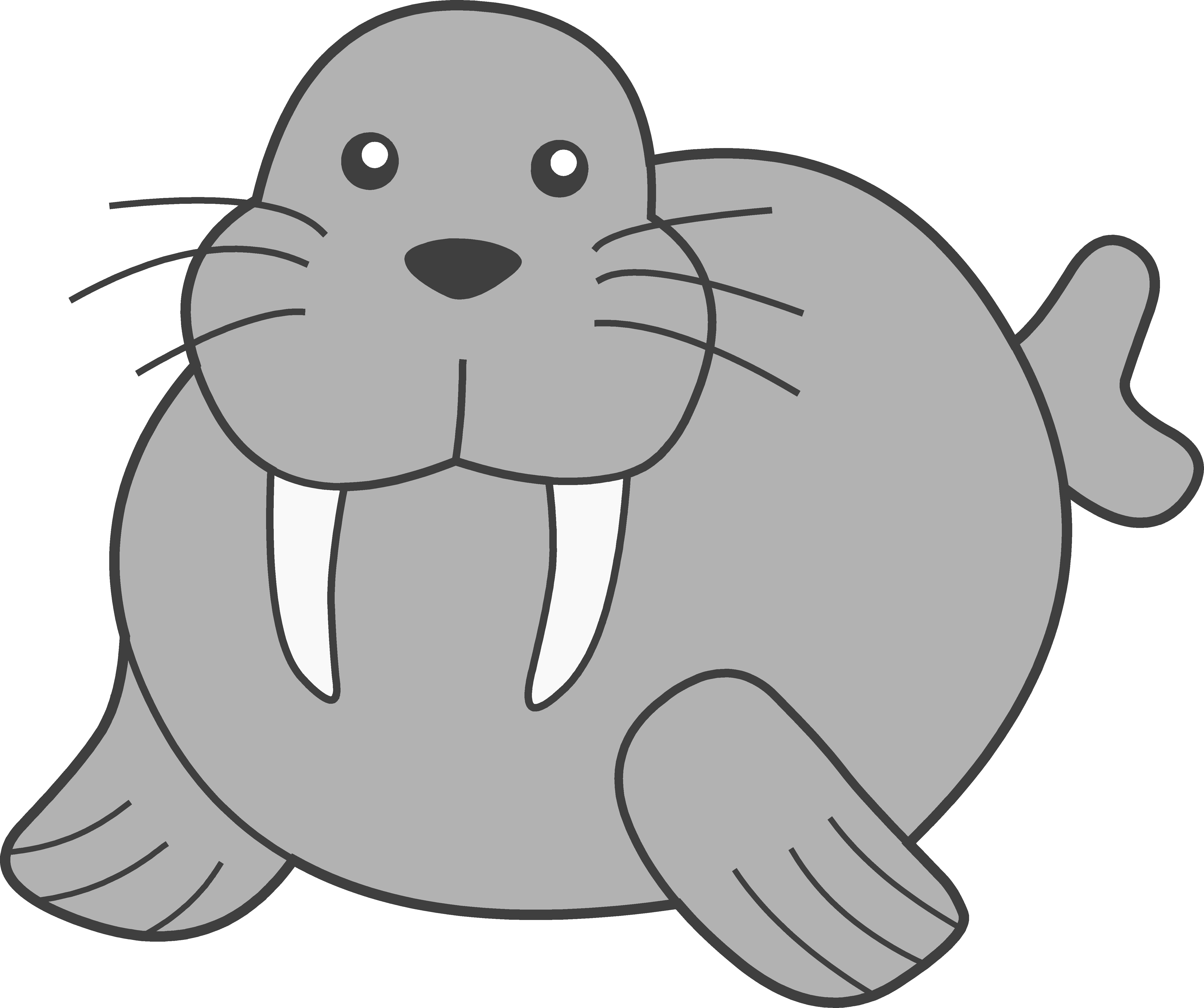 Walrus clipart. Panda free images cute