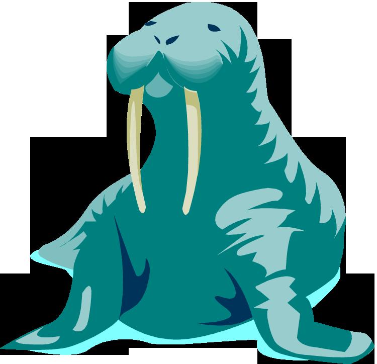 Walrus clipart animal arctic. Free