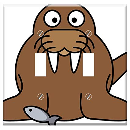 Walrus clipart animal arctic. Switch plate double toggle