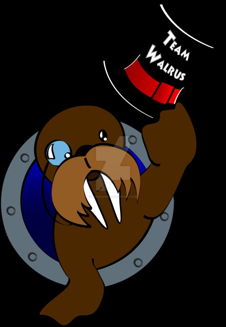 Walrus clipart brown. Team logo by phienixfire