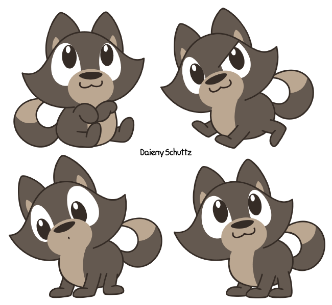 Wolves clipart kawaii. Chibi wolf by daieny