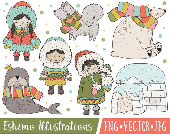 Walrus clipart christmas. Arctic people images cute