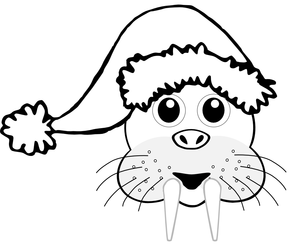 Wikiclipart . Walrus clipart christmas