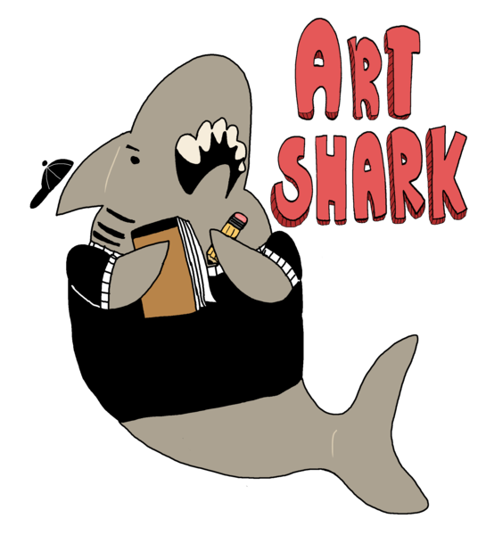 Art shark in own. Walrus clipart color
