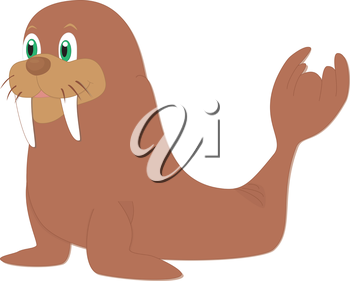 Walrus clipart object. Free download clip art