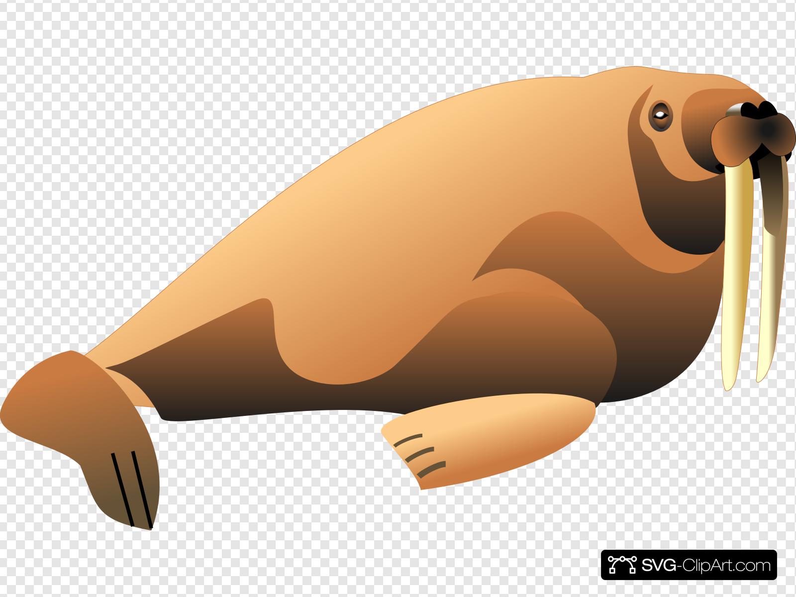 Walrus clipart svg. Animal clip art icon