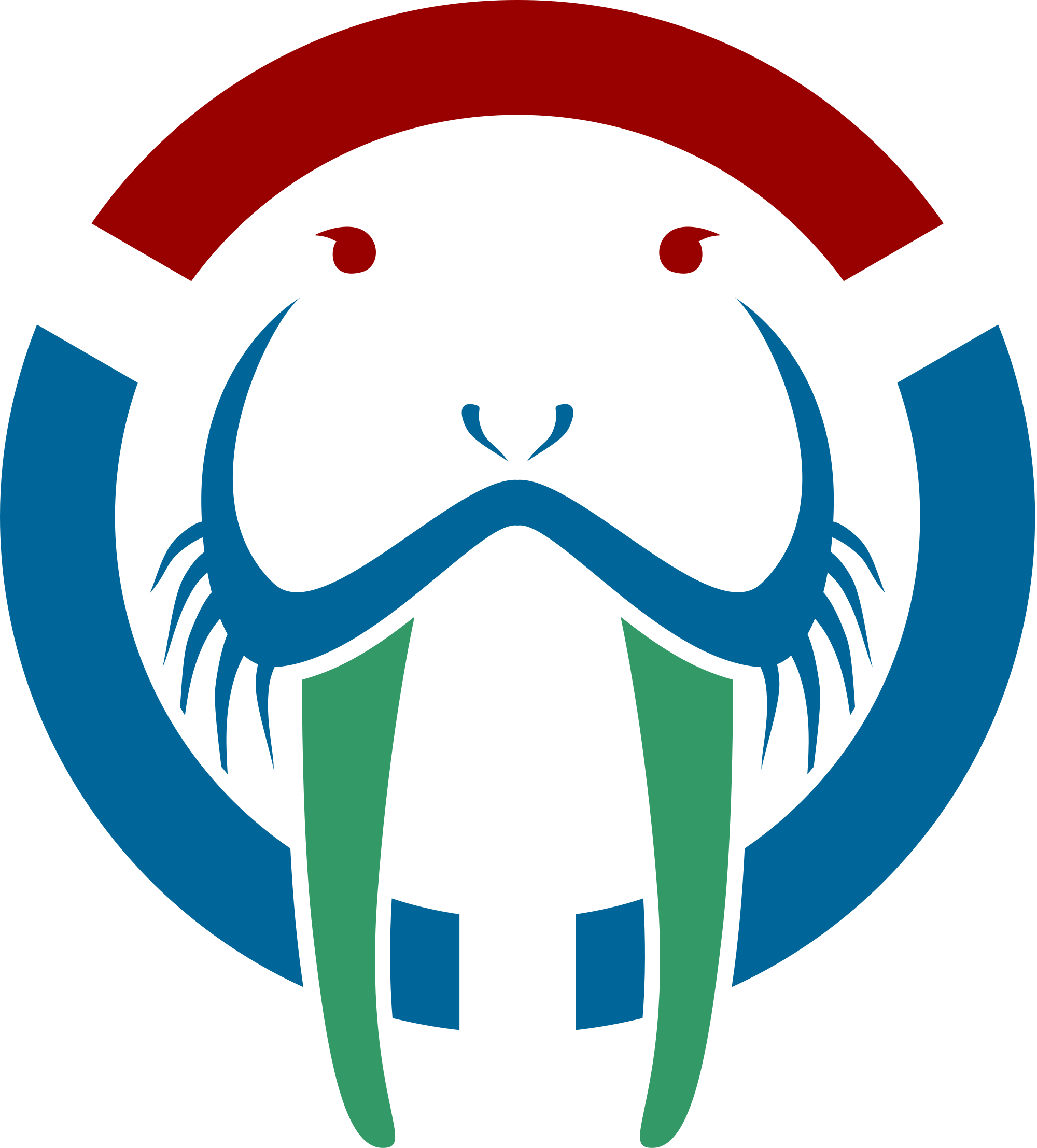 Walrus clipart svg. File logo notext wikimedia