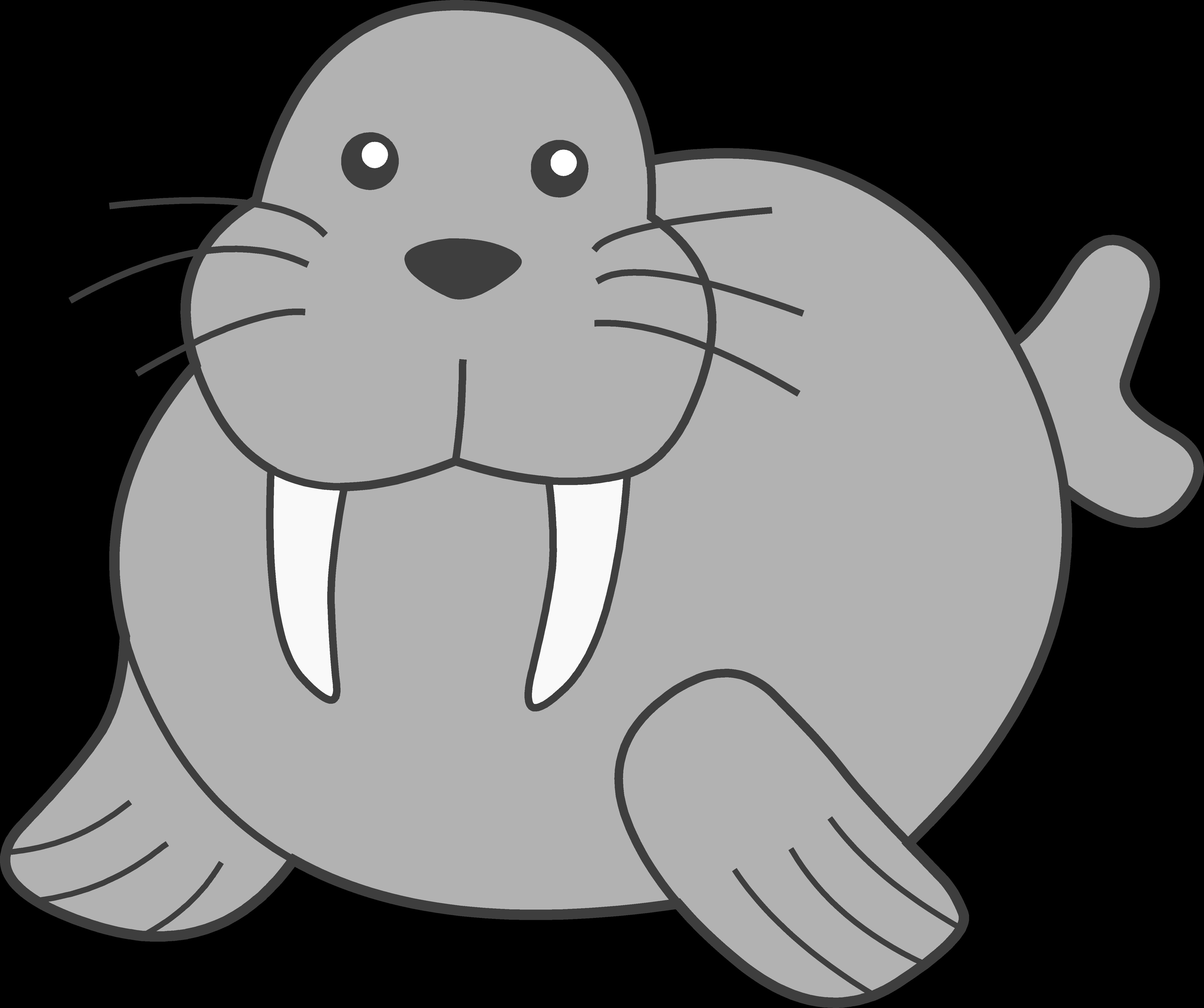 Free head cliparts download. Walrus clipart svg