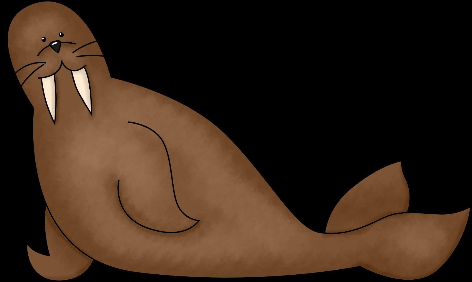 walrus clipart swimming