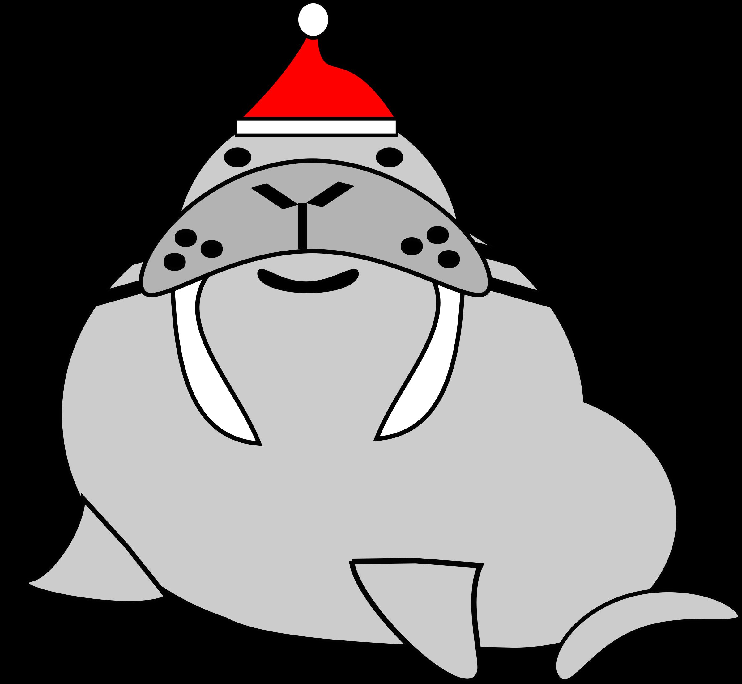 Walrus clipart transparent. Santa big image png