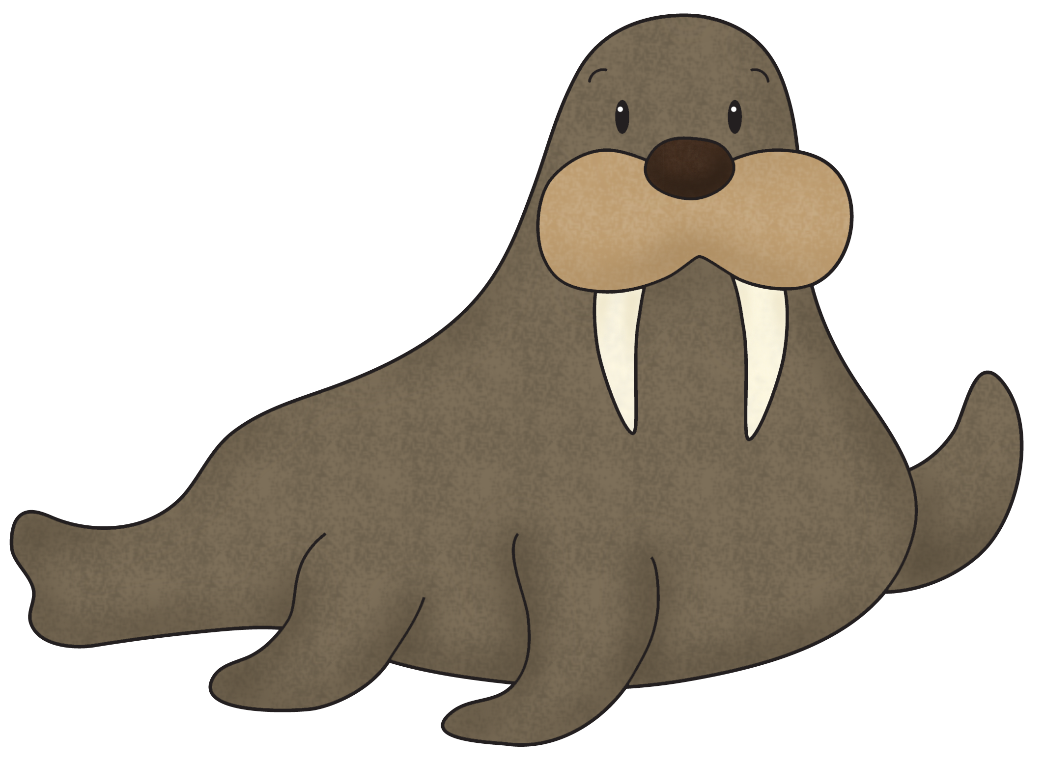 Download png free for. Walrus clipart transparent