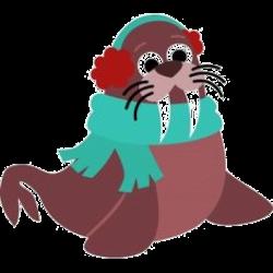 Walrus clipart winter. Picture