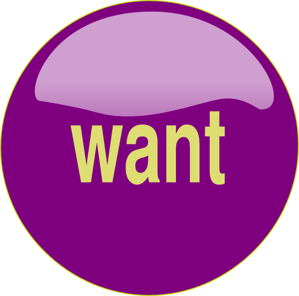 Want clipart. Button clip art at