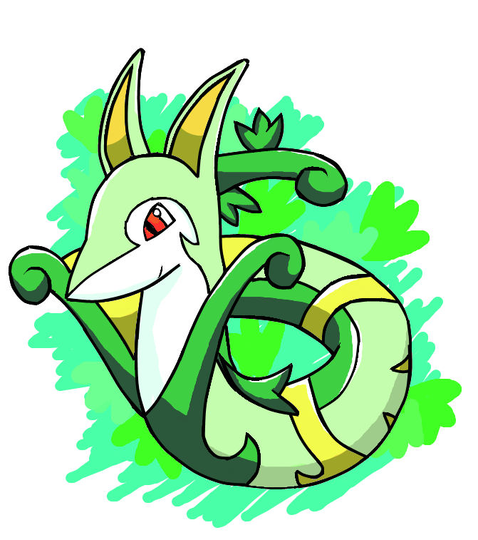 Want clipart over. Serperior by ink leviathan