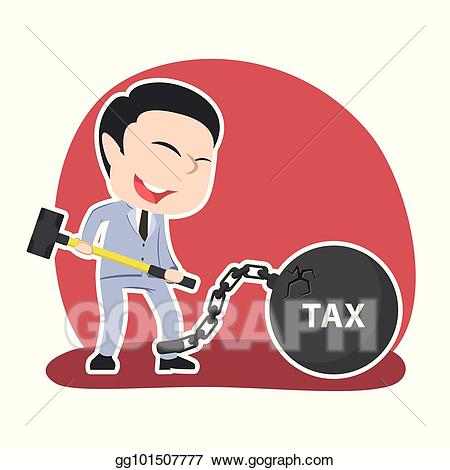 Want clipart tax. Vector asian businessman to