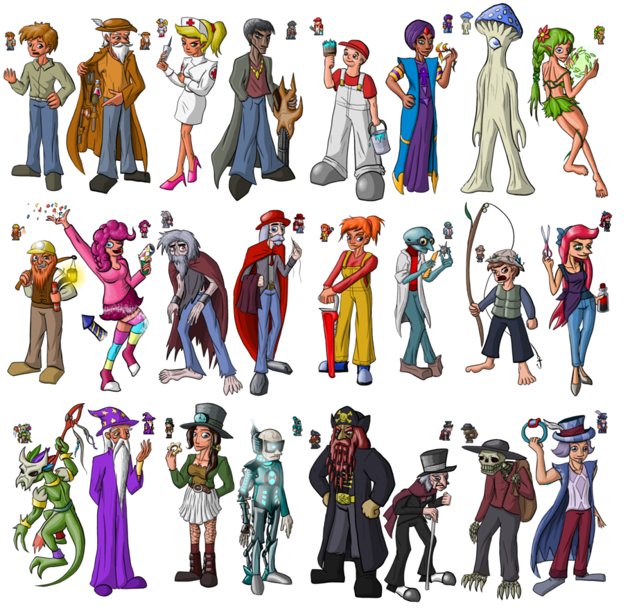 Terraria npcs by mortimermcmirestinks. Want clipart tax collector