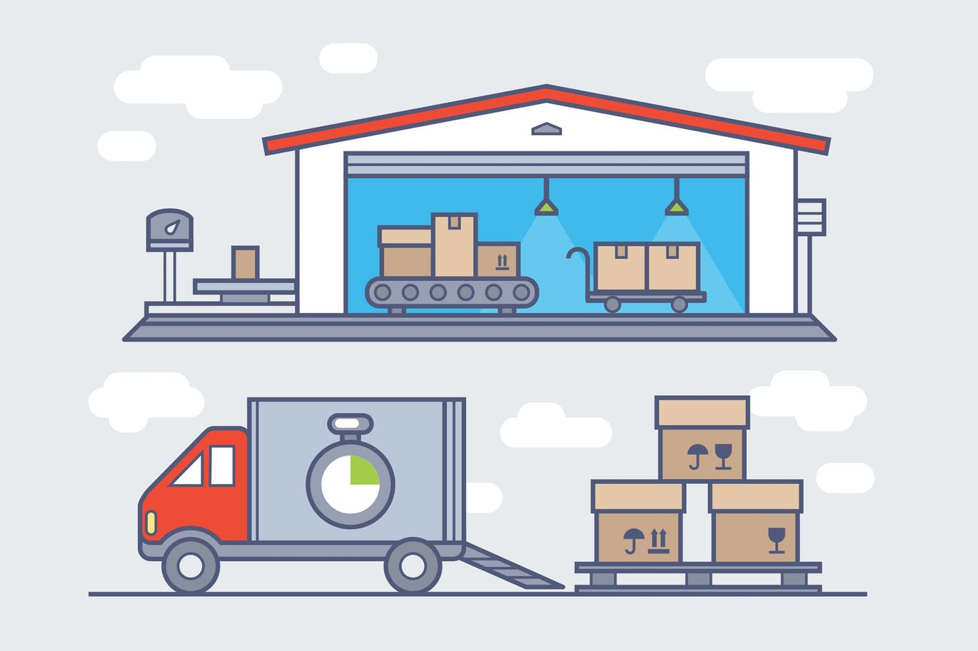 Warehouse clipart. Free download graphic dl