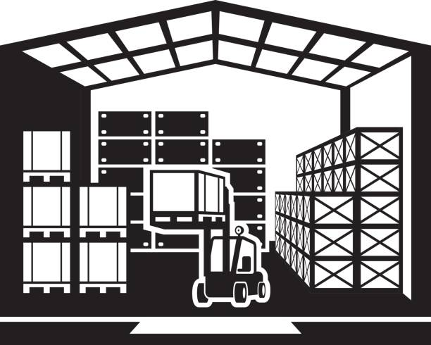 Station . Warehouse clipart