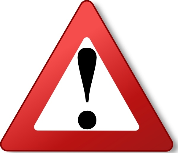 Sign clip art free. Warning clipart