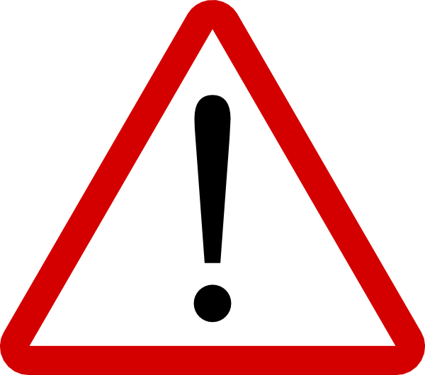 Triangular clipart kid. Warning sign clip art