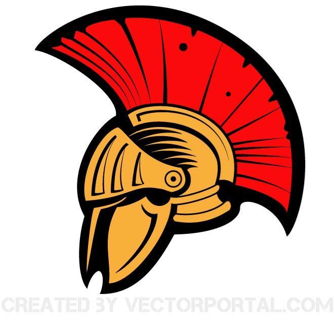 Helmet . Warrior clipart