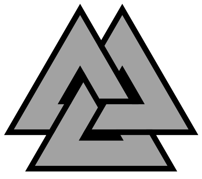 Warrior clipart achilles. Image valknut symbol triquetra