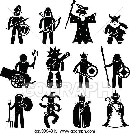Warrior clipart ancient warrior. Vector good character