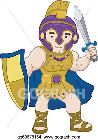 Vector stock greek clip. Warrior clipart ancient warrior