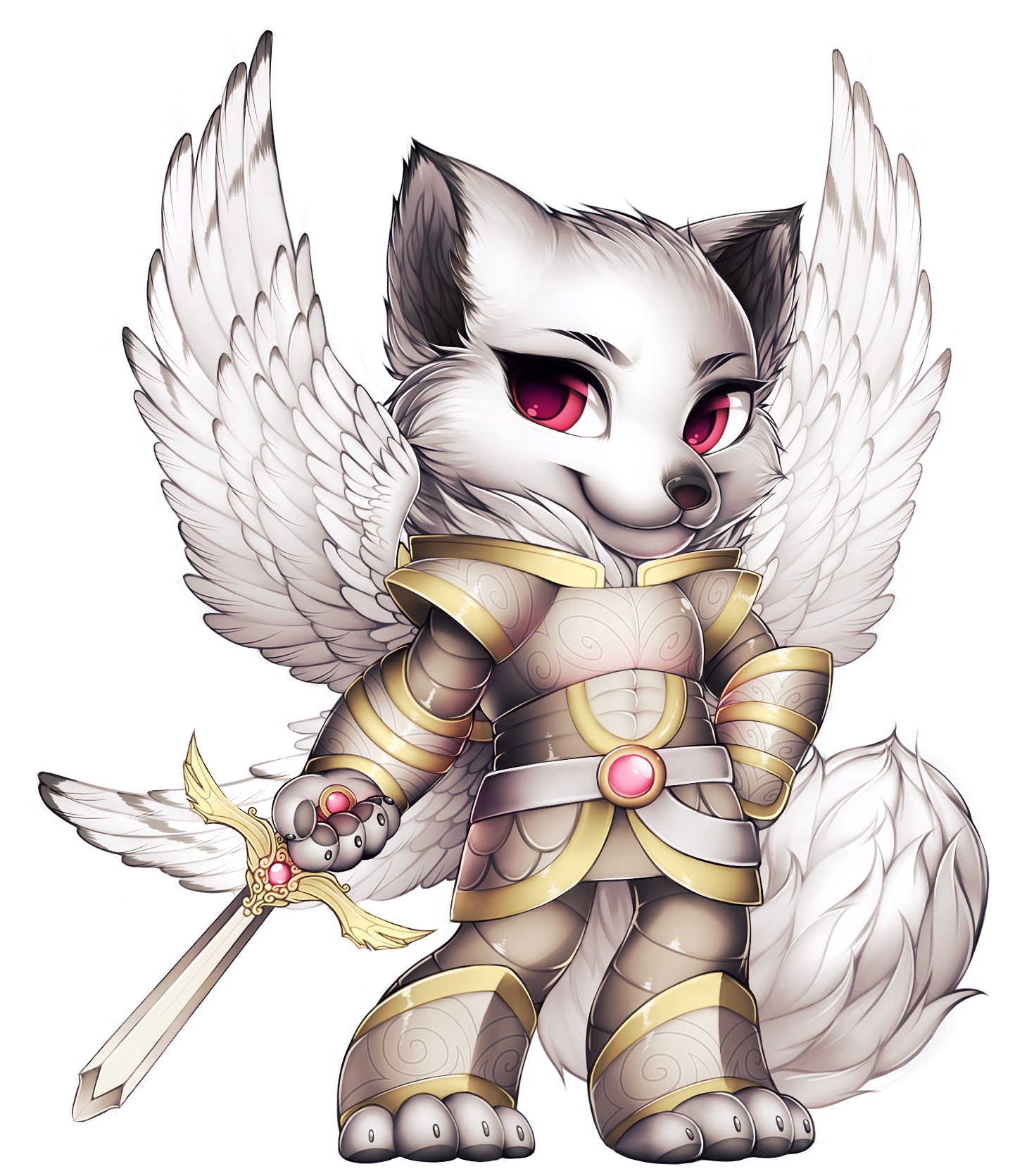 Image angel fox png. Warrior clipart angels
