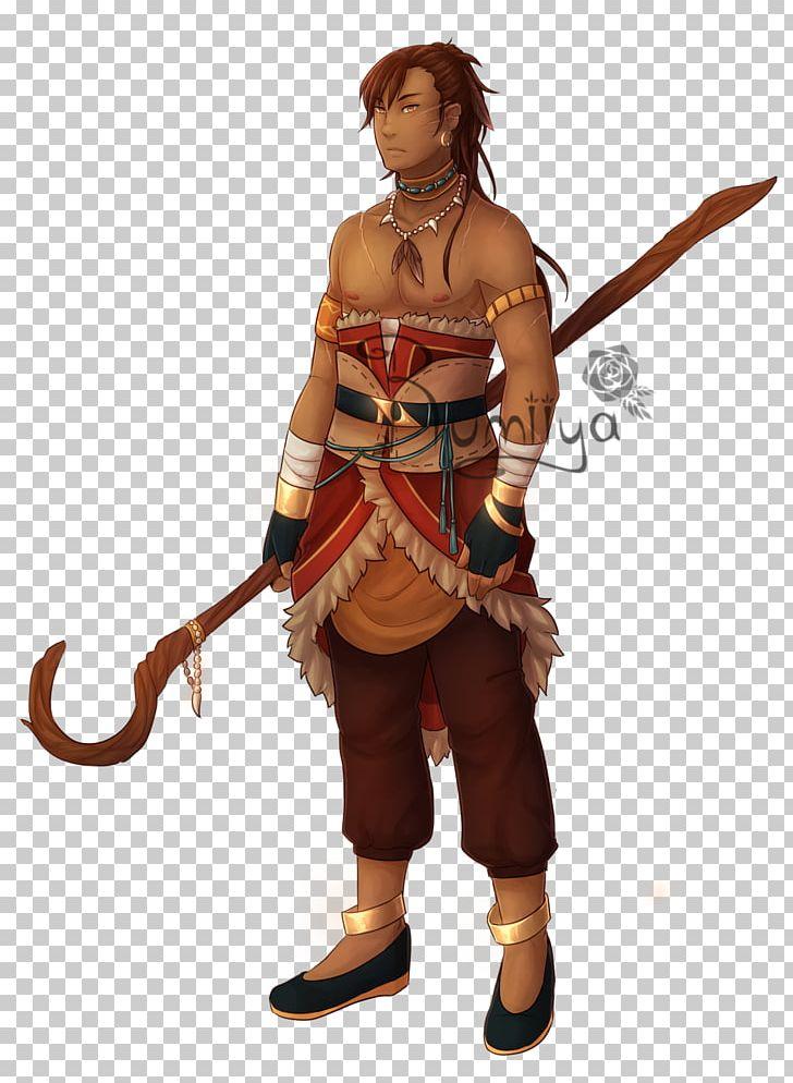 Costume character fiction cartoon. Warrior clipart animated
