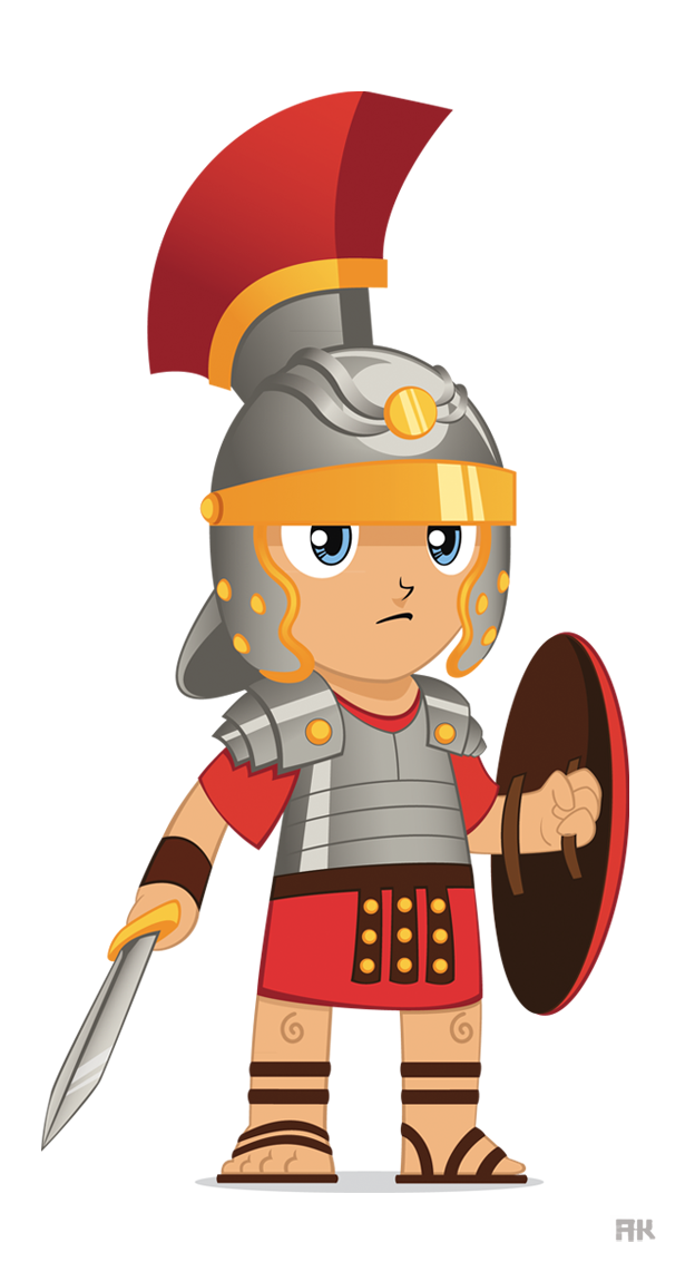 Warrior clipart animated. Cartoon roman soldier pictures