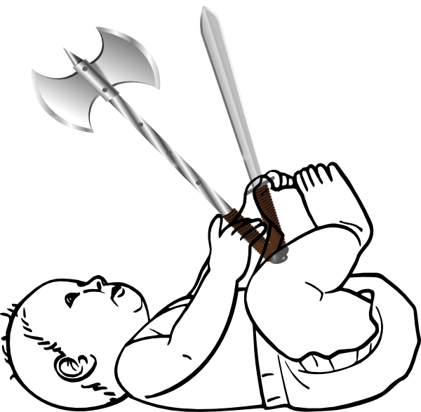 Warrior clipart baby. Clip art at clker
