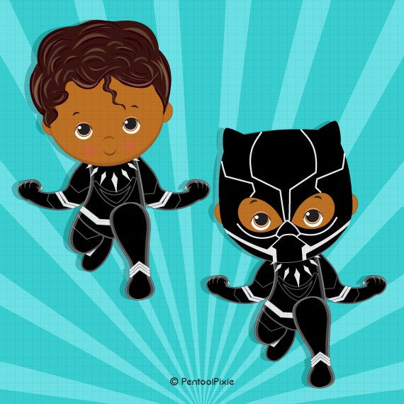 Black panther costume african. Warrior clipart baby