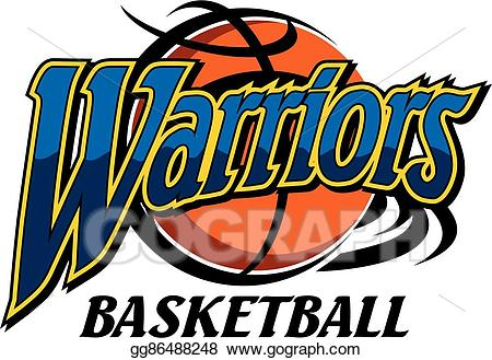 Warrior clipart basketball warriors. Vector art drawing gg