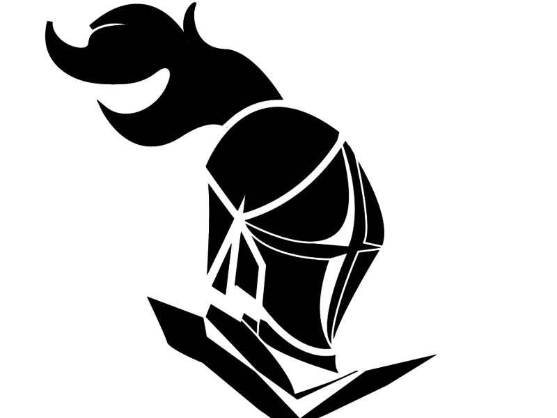 Warrior clipart black and white. By felipewind on dribbble