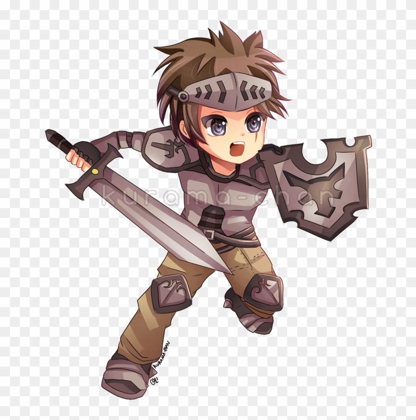 Warrior clipart boy. Manga chibi hd png