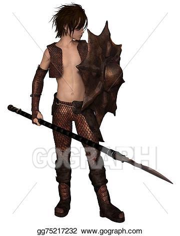 Warrior clipart boy. Stock illustrations dragon