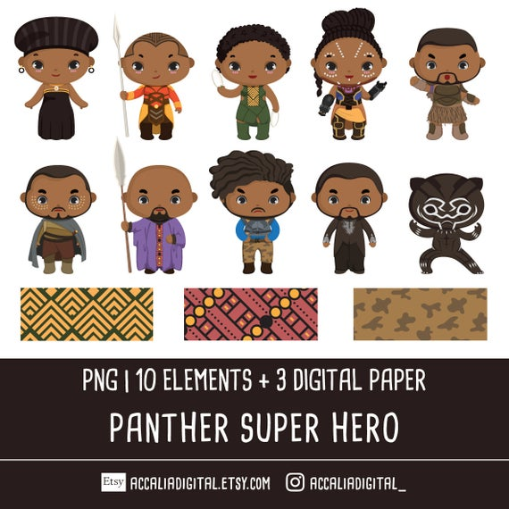 Panther hero png africa. Warrior clipart clip art