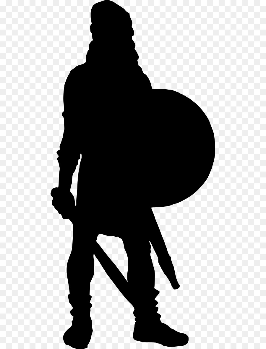 Royalty free silhouette . Warrior clipart clip art