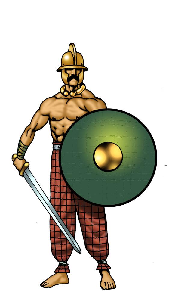 Warrior clipart clip art. Scottish library