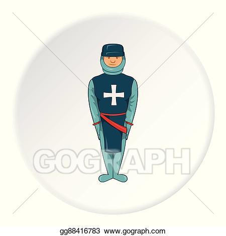 Eps illustration icon cartoon. Warrior clipart crusader