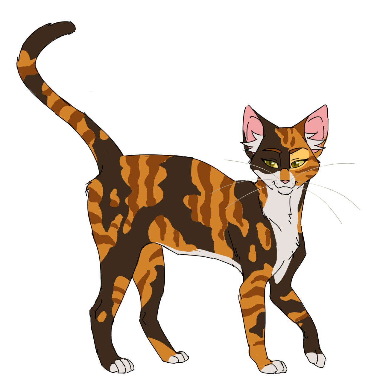 Cats designs challenge spottedleaf. Warrior clipart design