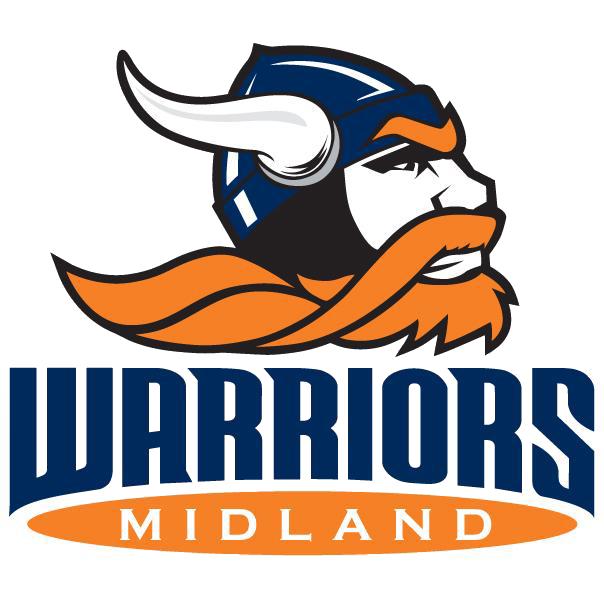 Warrior clipart edgewood. Midland university baseball scores