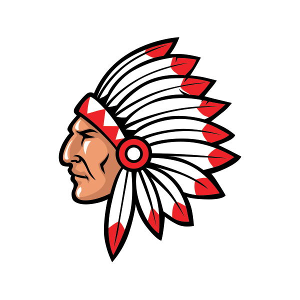 Warrior clipart ethnic. Printed vinyl native indian
