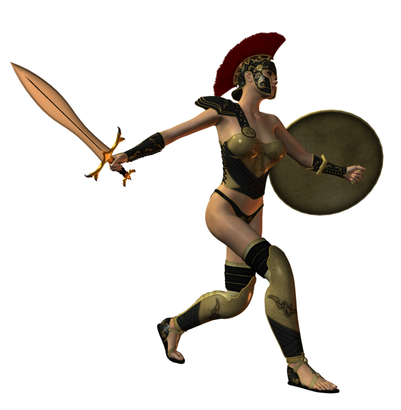 Spartana by selficide stock. Warrior clipart female warrior