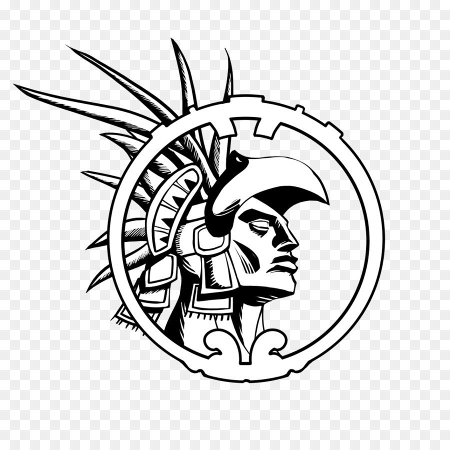 Maya logo drawing transparent. Warrior clipart font