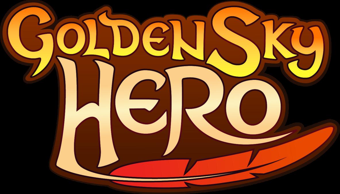 Warrior clipart font. New golden sky hero