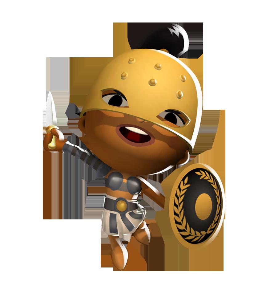 Flavia the gladiatrix world. Warrior clipart guard roman