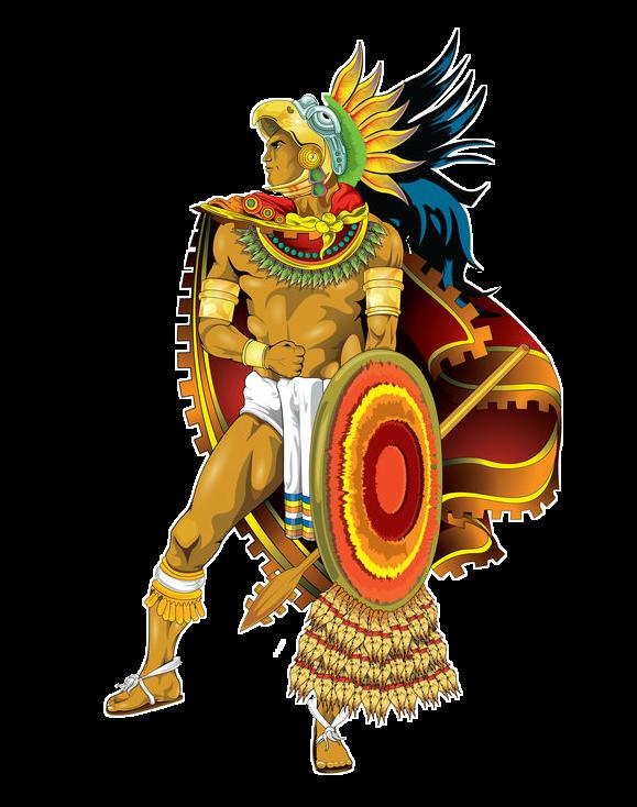 Warrior clipart guerrero. Azteca aztec