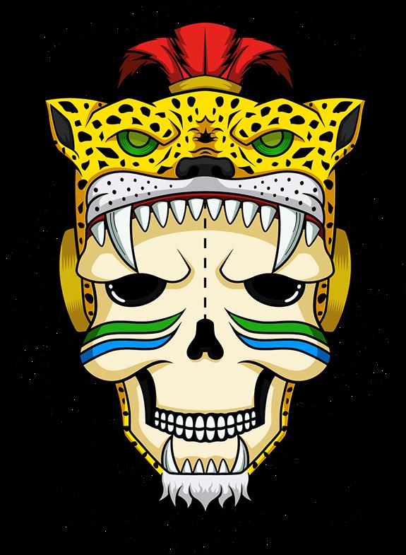 Aztec leopard azteca jaguar. Warrior clipart guerrero